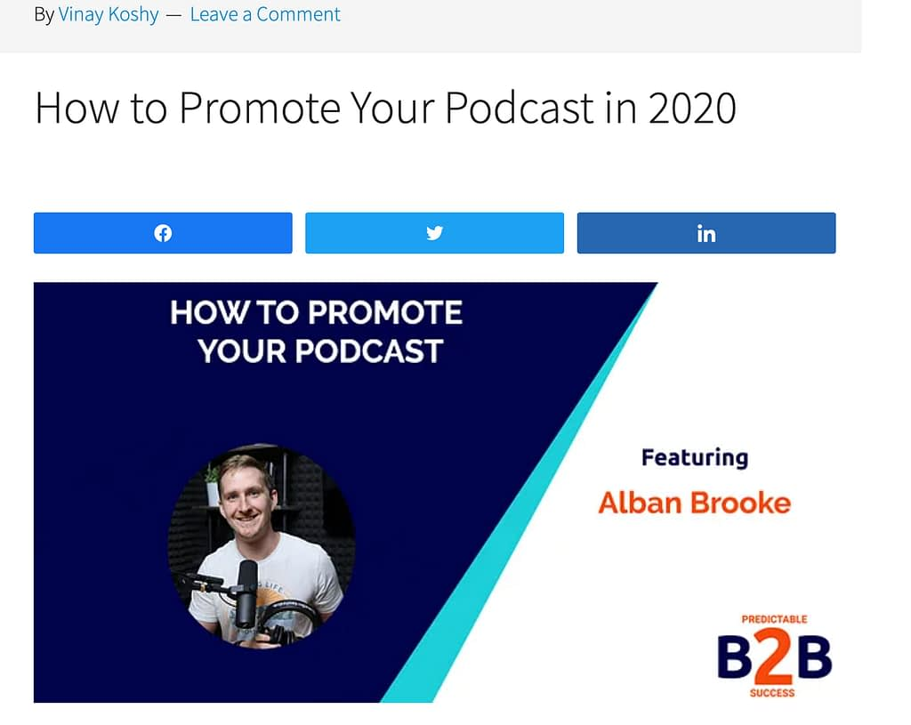 how to promote your podcast - graphic