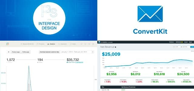 comparing revenue stats for Converkit with books