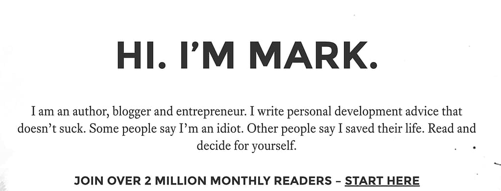 How Mark Manson crafts viral posts and grows his audience