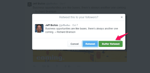 add images for Twitter with Buffer Retweet button