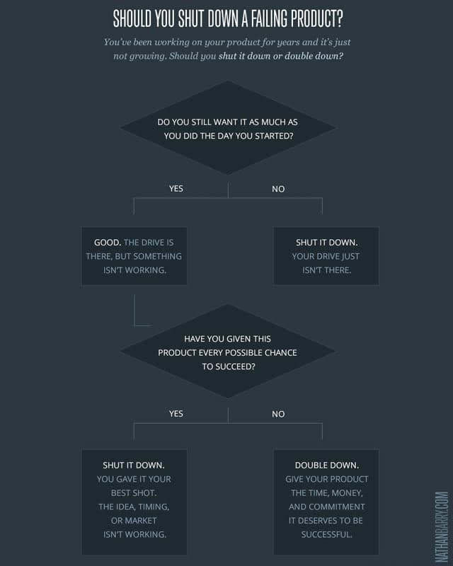 infographic to determine business course of action