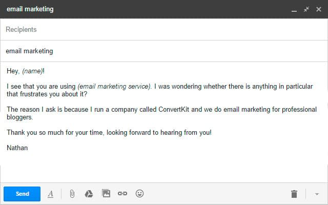 outreach email campaign template