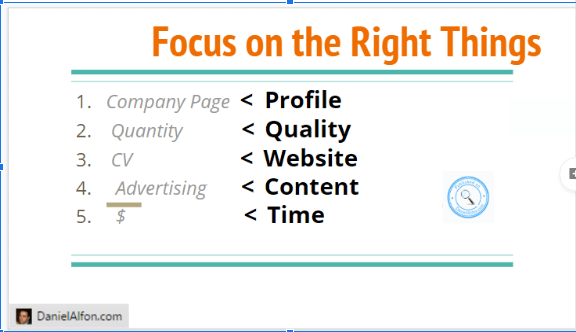 Focus on the right things - how to use linked for business marketing