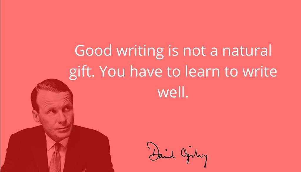 David Ogilvy quote on creating killer content