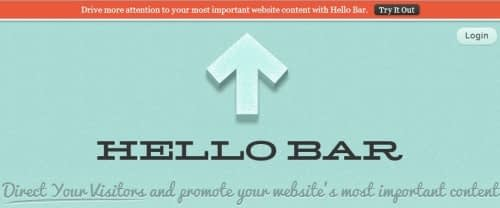 Hello bar email signup form