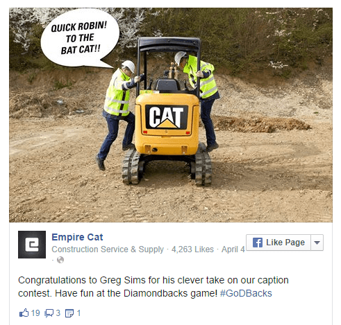 Using humor on Empire Cats posts