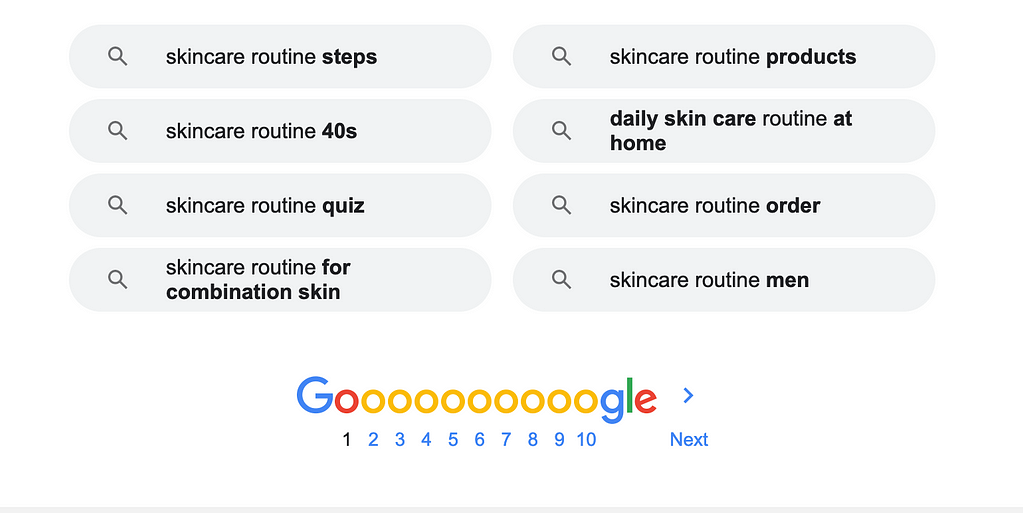 snapshot of a Google related search
