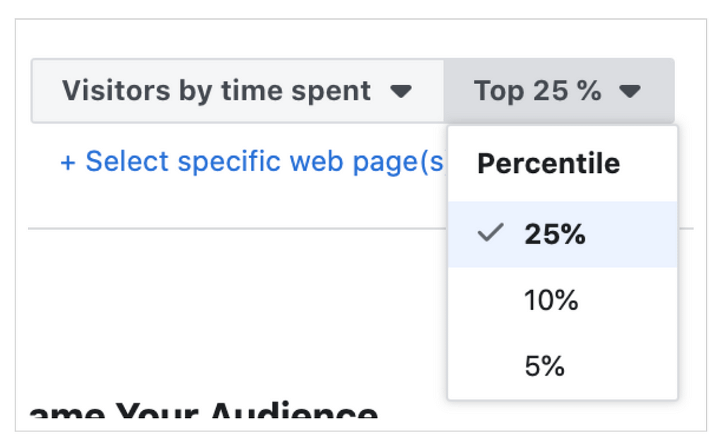 retarget people who spend the most time on your site