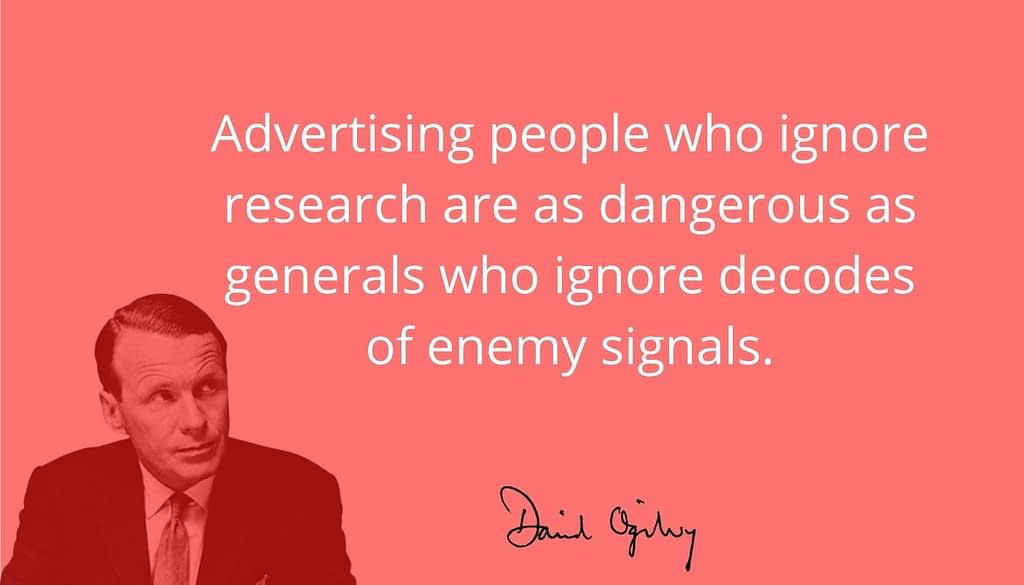 Ogilvy on ignoring research