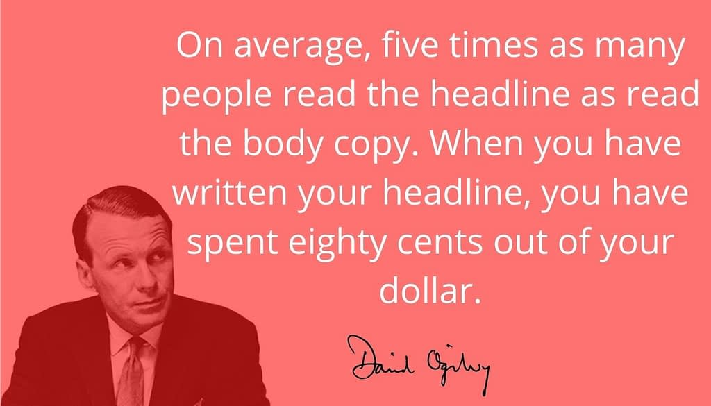 Ogilvy on being specific