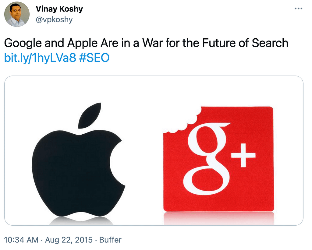 Google and Apple Are in a War for the Future of Search